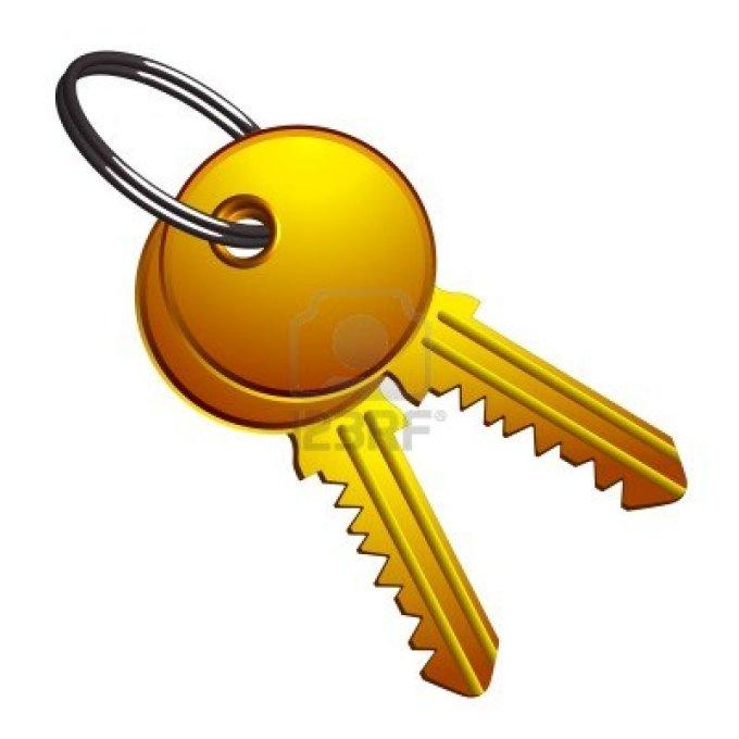 13435128-golden-keys-on-metallic-ring-against-white-background-abstract-vector-art-illustration